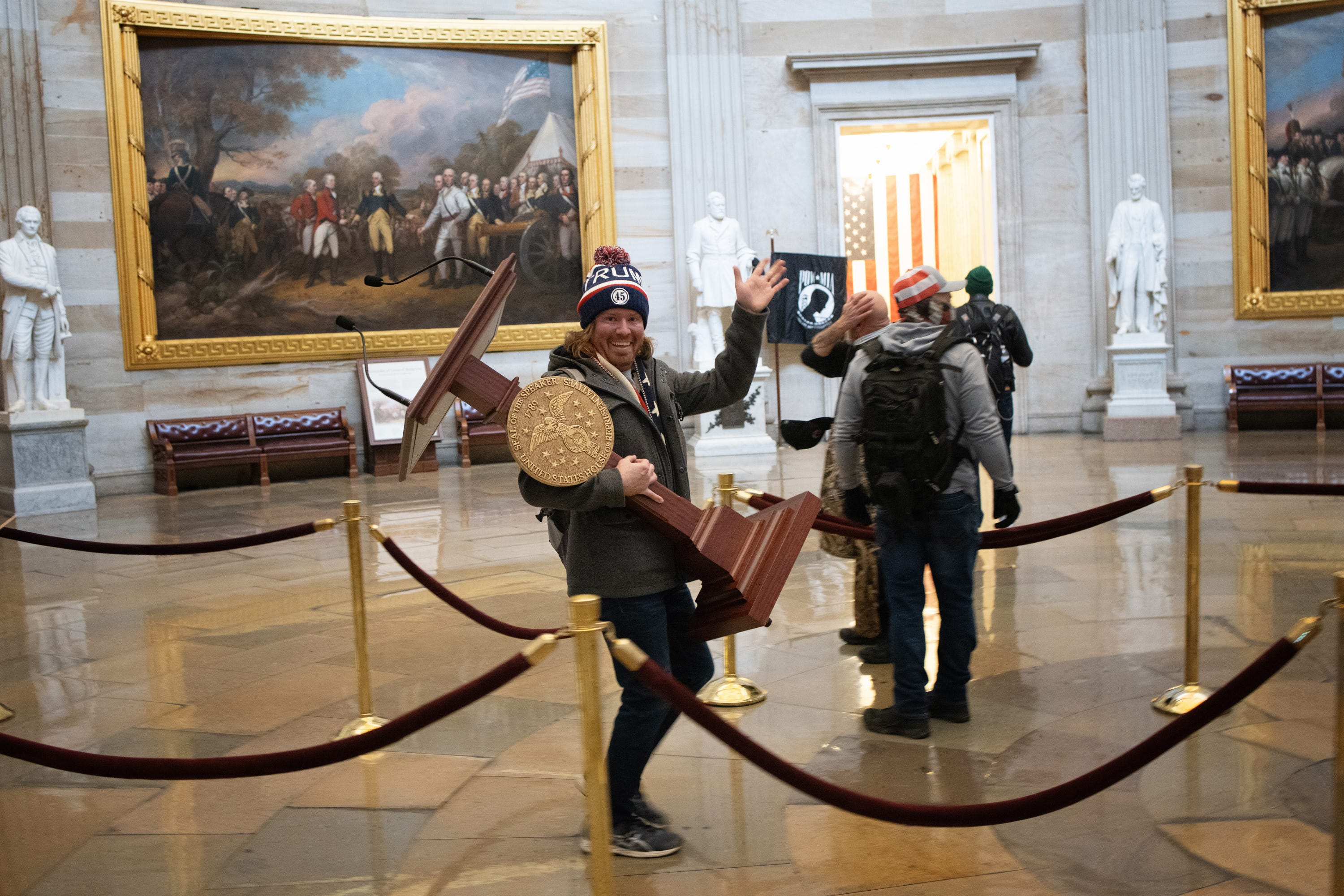 Capitol riot live updates: Air Force veteran fired after reported participation; Apple suspends Parler from App Store