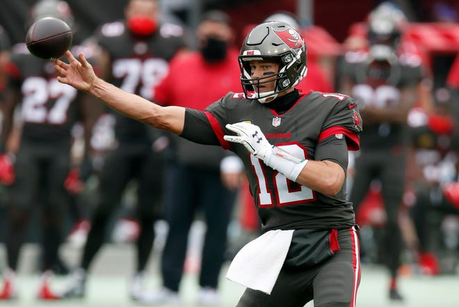 Bucs quarterback Tom Brady has thrown for 4,633 yards and 40 TD passes rivaling the numbers put up during his three previous MVP campaigns with the Patriots.