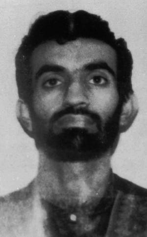 Ramzi Yousef, suspected mastermind of the February1993 World Trade Center bombing, is shown in this 1993 photo from files.