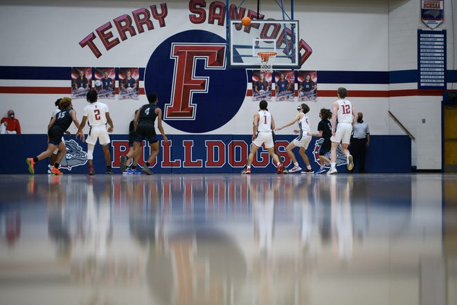 Westover at Terry Sanford boys' basketball game on Wednesday, Jan. 6, 2021.