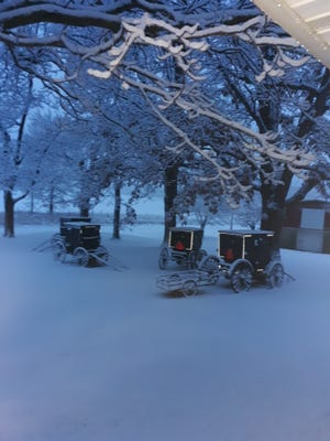 Fresh snow on Sunday morning at the Eicher household brings hope for the year ahead.