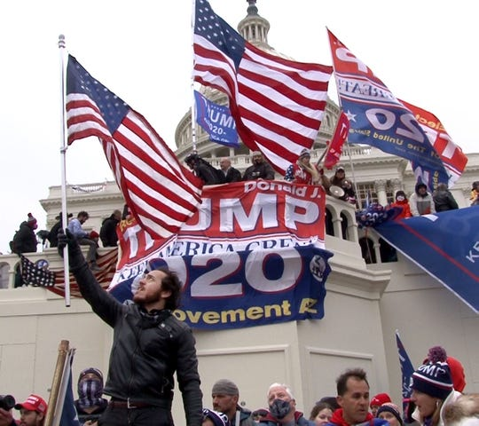 Anthony DiBella, River Edge, was among the pro-Trump group that took over the steps of the Capitol in Washington, DC, Wednesday, January 6, 2021