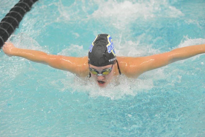 Ontario's Brie Trumpower swims the butterfly in the 200 IM.
