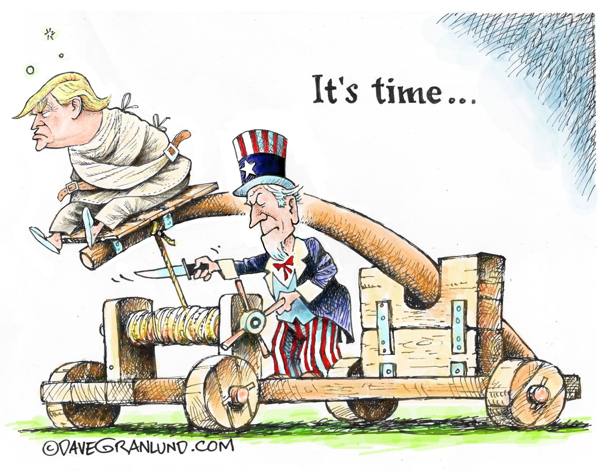 Editorial Cartoons On President Trump