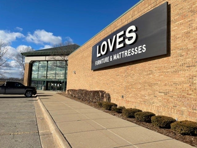 Loves Furniture is down to 13 stores, including this location in Port Huron on January 7, 2021.