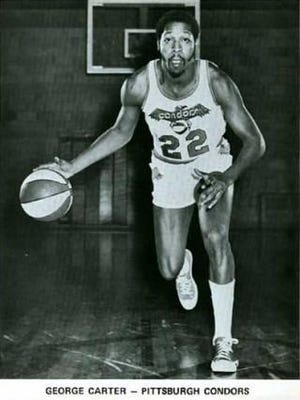 George Carter's team photo when he played for the ABA's Pittsburgh Condors.
