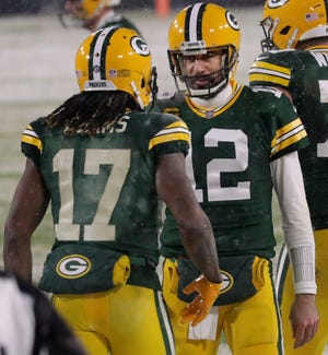 Davante Adams and Aaron Rodgers may be celebrating touchdowns in different uniforms soon.