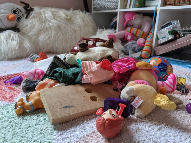 Abbey Roy spends much of her time helping de-clutter her kids' rooms.