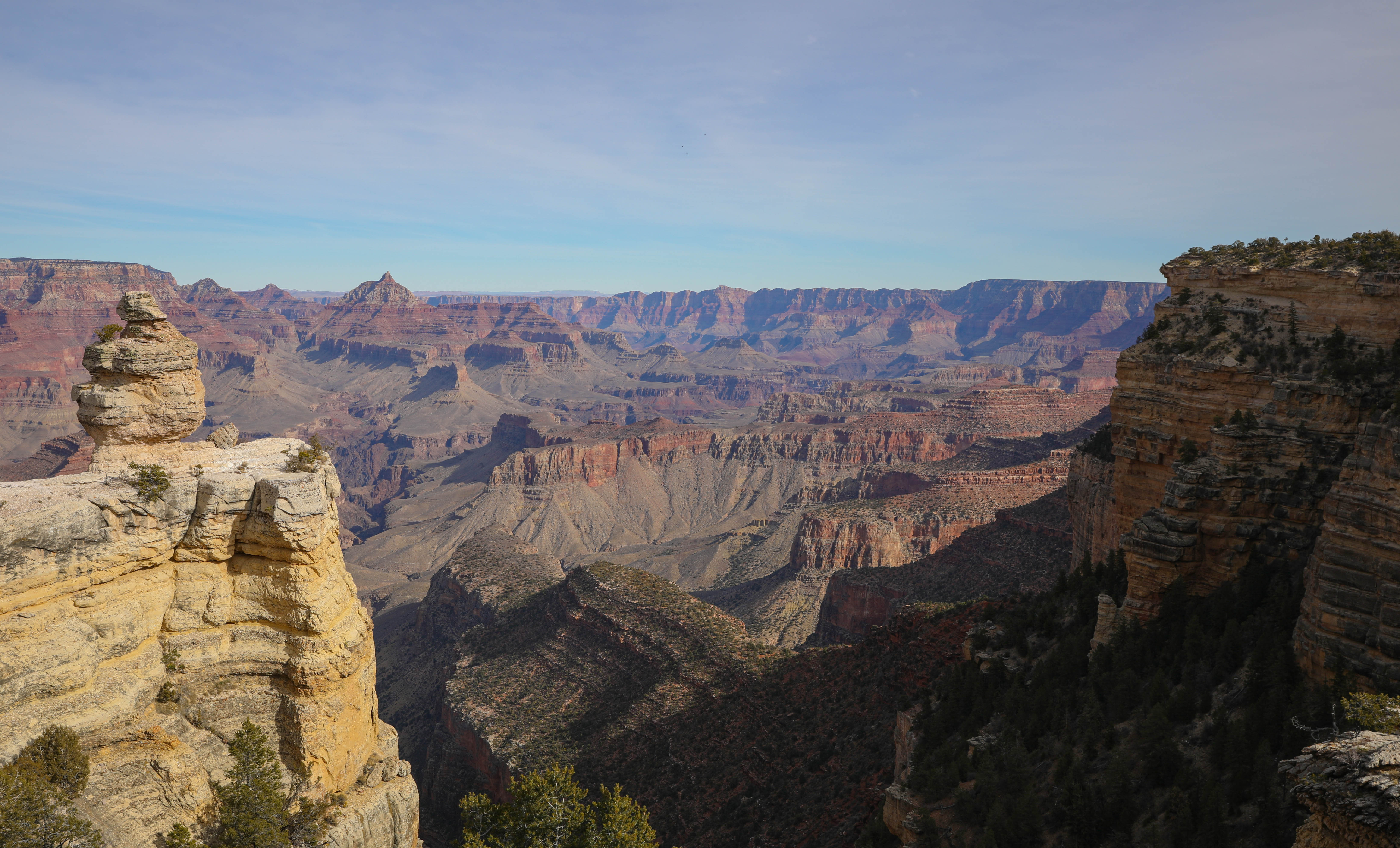 A view of the Grand Canyon from the Desert View Drive in the Grand Canyon National Park.