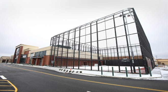The Dick's Sporting Goods at Eastview Mall in Victor is set to open in March. A 17,000-square-foot turf field is adjacent to the store.