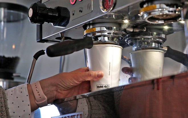Jessie Browning prepares a shot of espresso for a coffee drink at the new Buttercup Cafe on Thursday, Jan. 7, 2020.