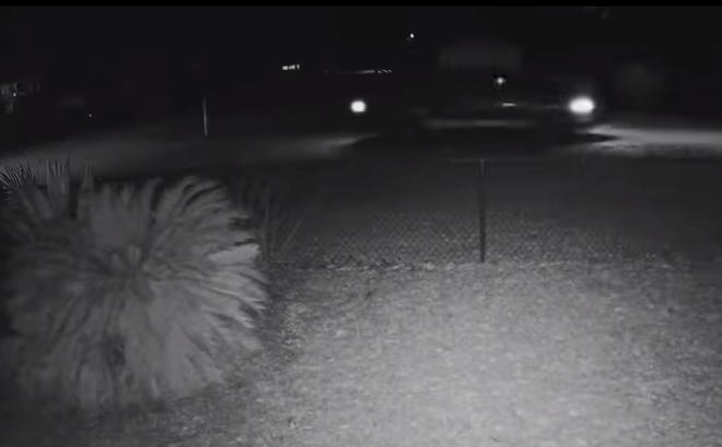 An image from surveillance video of a truck believed to have been involved in a drive-by shooting at the home of Carrabelle Mayor Brenda La Paz. No one was injured in the shooting, which happened the night of Tuesday, Jan. 5, 2021.