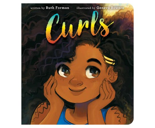 """Curls"" by Ruth Forman, illustrated by Geneva Bowers"