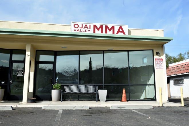 The former Ojai Valley Mixed Martial Arts and Fitness studio sits closed on Ventura Avenue in Oak View. The COVID-19 pandemic has caused financial hard times for local martial arts schools because of restrictive stay-at-home orders and declining memberships.