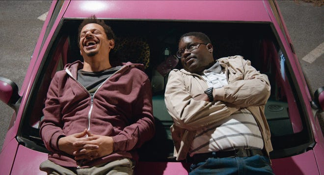 "Chris (Eric Andre) and Bud (Lil Rel Howery) often joked about the movie ""White Chicks"" during their ""Bad Trip"" road trip."