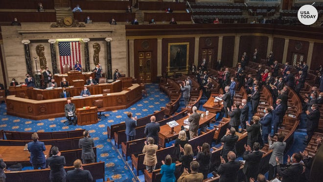 Congress reconvened the joint session on Electoral College votes hours after pro-Trump rioters stormed the U.S. Capitol.