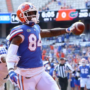 Florida tight end Kyle Pitts has put up the numbers where he can be a top-10 NFL draft pick.  His 17.9 yards per reception and 12 touchdowns in only eight games last season stand out.