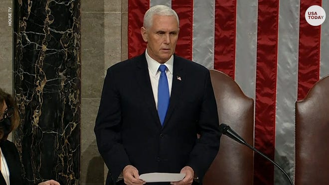 Vice President Mike Pence certified Joe Biden and Kamala Harris' victory after violence erupted at the U.S. Capitol.