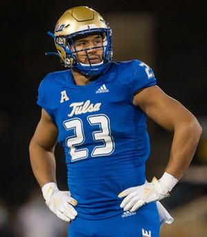 Draft analyst Mel Kiper Jr. suggested that Tulsa linebacker Zaven Collins could be the perfect fit for the Browns with the 26th pick in the NFL Draft. [Associated Press]