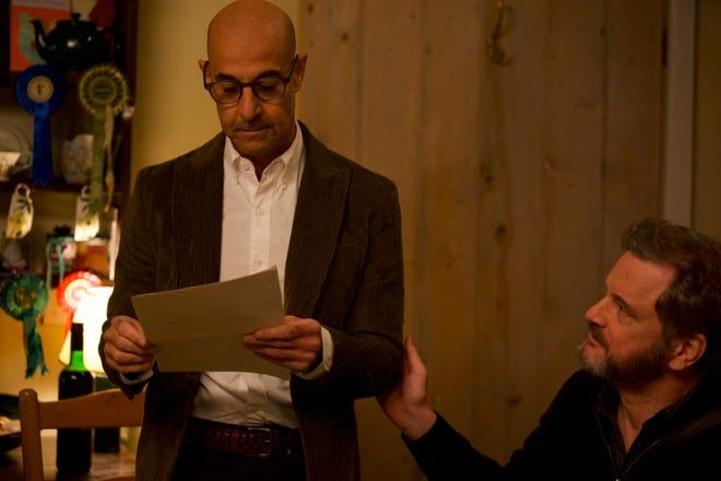 """When Tusker (Stanley Tucci, left) is diagnosed with early onset dementia, he and his partner Sam (Colin Firth) vow to spend as much time together as possible in the love story """"Supernova."""""""