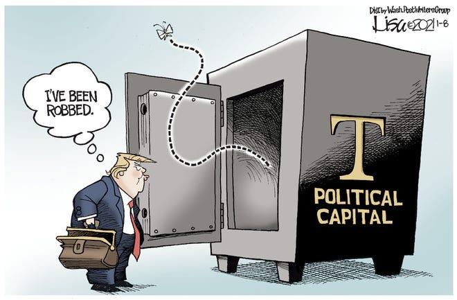 Editorial cartoon: Capital gone