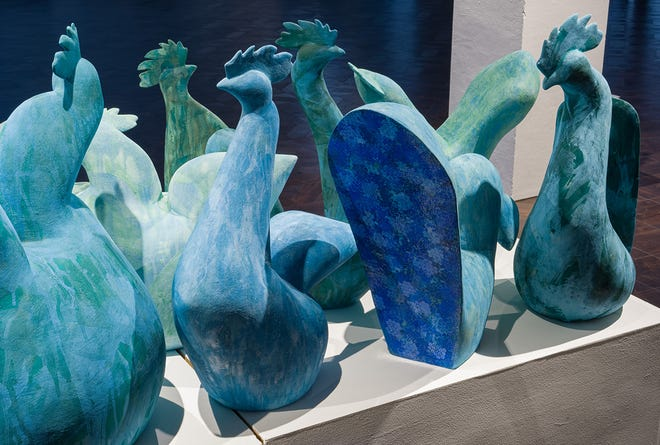 """These pieces, done by Misty Gamble, who began teaching at West Texas A&M University in June, will be featured in """"Accoutrement and Consumption,"""" a survey of works both new and archival, in the Dord Fitz Gallery in Mary Moody Northen Recital Hall."""
