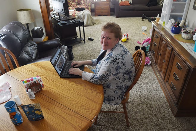 Missy Sanow, executive director of Martha's House of Hope, poses at the house Friday, Jan. 8, 2021, in Ames, Iowa.