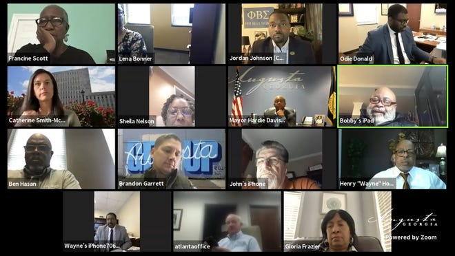 Members of Augusta's legislative delegation met on Zoom with the Augusta Commission Thursday. Discussion topics included the proposed division of the Augusta Judicial Circuit and making changes to the structure of city government.
