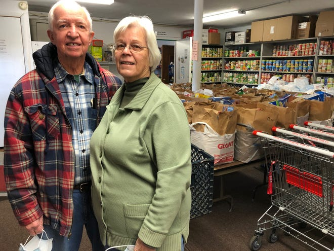Byron and Dottie Rimmer will retire in May after more than 20 years as coordinators of the New Britain Baptist Church Food Larder.