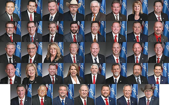 The 39 Oklahoma legislators who signed a letter asking Congress to challenge the results of the presidential election.