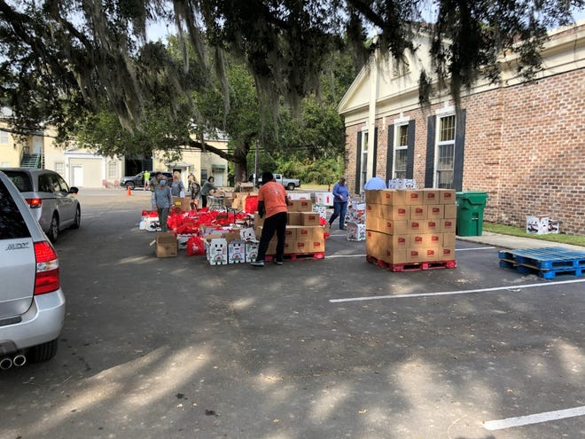 Peters, Murdaugh, Parker, Eltzroth and Detrick, P.A., of Ridgeland partnered with the Lowcountry Food Bank to host a drive-through food distribution.