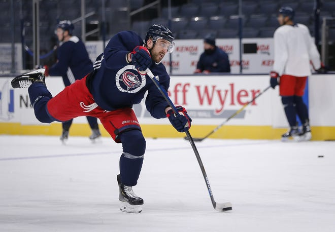 Team captain Nick Foligno was among 17 Blue Jackets players held out of practice on Friday because of concerns relating to COVID-19.