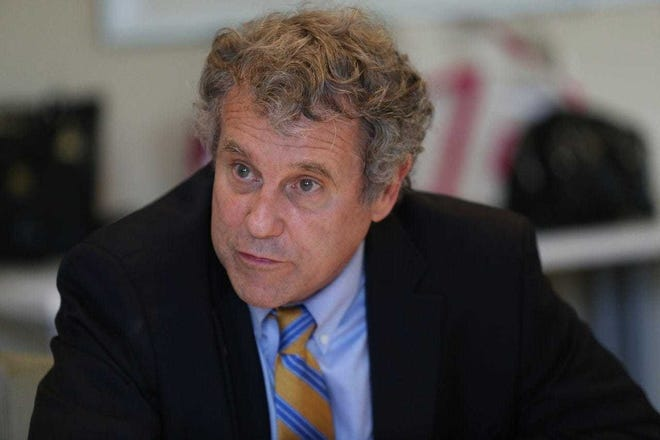 U.S. Sen. Sherrod Brown, D-Ohio, is calling for the removal of President Donald Trump for inciting the rioters who stormed the Capitol.