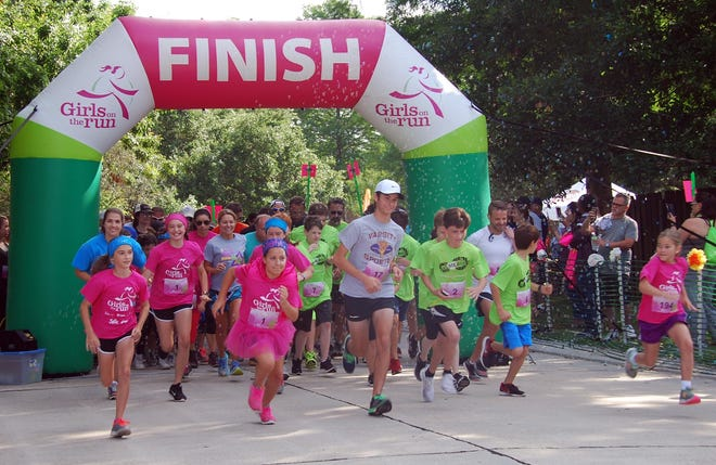 Girls on the Run's program culminates in a 5K run and celebration like this one in 2017 in Houma.