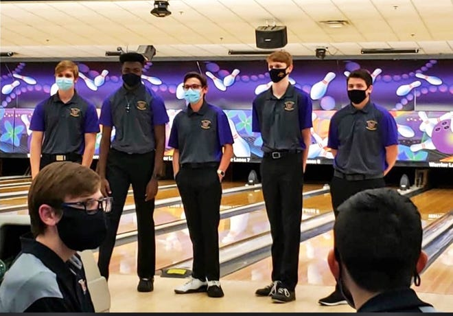 Waukee boys bowling seniors honored before the contest against West Des Moines Valley on Thursday, Jan. 7 from Warrior Lanes in Waukee.