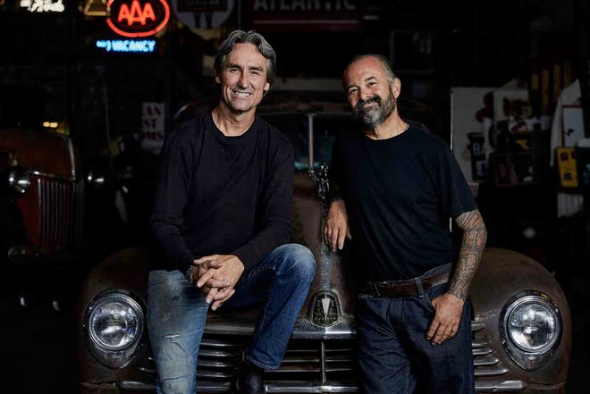 Mike Wolfe (left) and Frank Fritz (right) are coming to North Carolina to film the History Channel show, American Pickers.