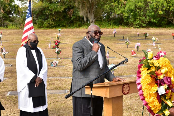 Miami Dolphins legend and Bethune-Cookman great Larry Little spoke last week at the graveside service for B-CU athletics icon Cy McLairen, who died Dec. 28 at age 89.