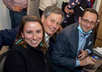 Jacksonville native Katie Schoettler (left) sheltered in a Capitol Hill office building until early Thursday morning after rioters stormed the Capitol while lawmakers including her boss, Montana Republican U.S. Sen. Steve Daines, formalized  president-elect Joe Biden's selection as the country's next leader.