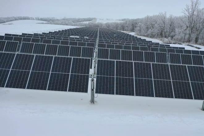Jo-Carroll Energy Project solar panels.