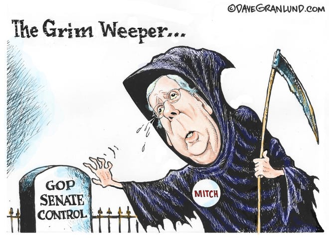 Dave Granlund cartoon on McConnell and GOP losing control of Senate