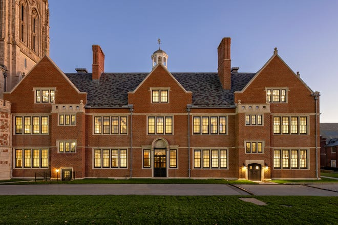 Shawmut Design and Construction has completed a $14 million historic restoration to the Memorial Schoolhouse at St. George's School.