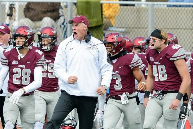Coach Dan Hunt and the Colgate football team are set to play a four-game schedule, the Patriot League announced Friday.