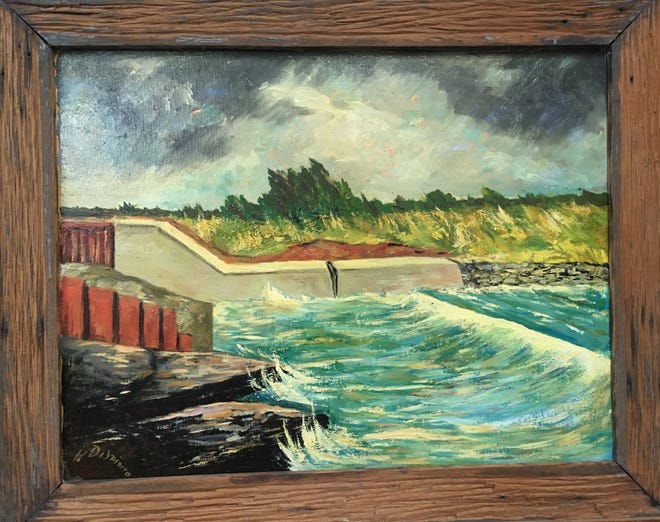 """'Barge Canal"""" by Henry DiSpirito"""
