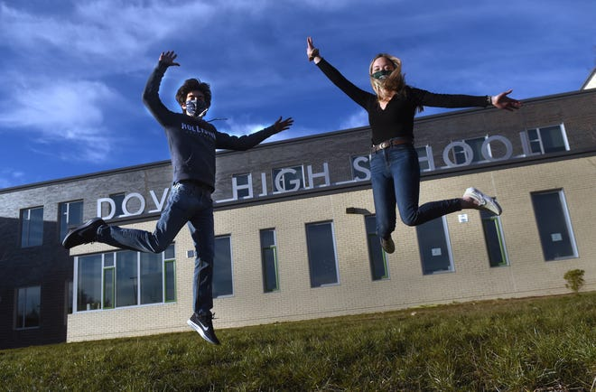 Jacob Favolise and Ashlyn Smith, both seniors at Dover High School, are among the participants in this year's revised version of the Penguin Plunge to benefit New Hampshire Special OIympics.