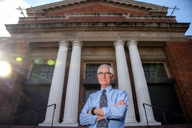 Haggin Museum director Tod Ruhstaller stands in front of the museum in Victory Park in Stockton.