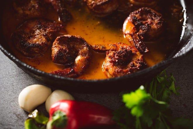 Sarasota-Manatee Originals presents Original Eats through Jan. 31, with around 30 local restaurants showcasing signature dishes such as Bijou Cafe's shrimp piri piri, pictured here.