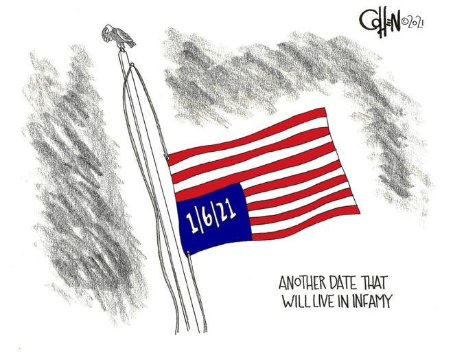 Editorial cartoon David Cohen
