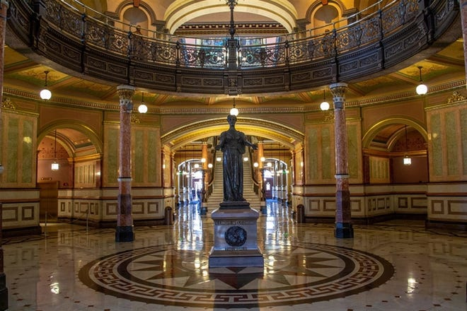 Illinois State Capitol building in Springfield.