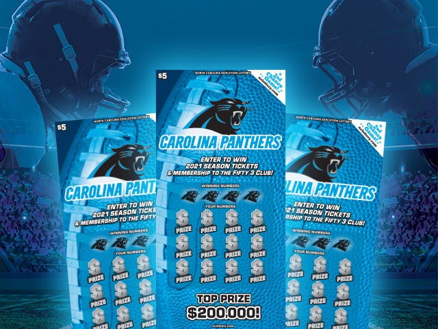 An Oak Island woman has won $200,000 in the N.C. Education Lottery as part of a Carolina Panthers scratch-off game.