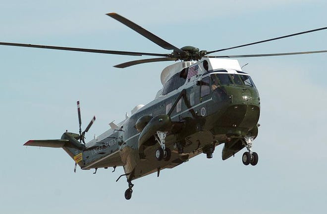 Pictured, is a VH-3D Sea King. [CONTRIBUTED PHOTO]